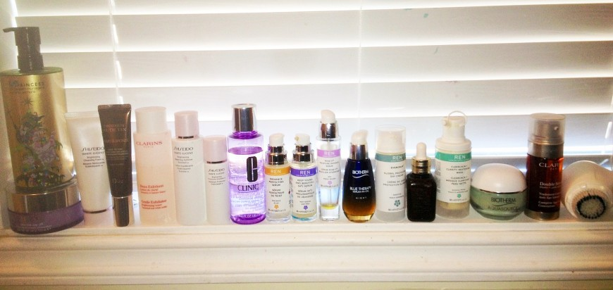 My Bathroom Beauty Products