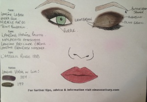 Lancome French Idole Face Chart